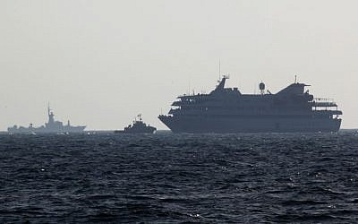 Israeli Navy vessels escort the Mavi Marmara to the port of Ashdod, May 31, 2010. (photo credit: Kobi Gideon/Flash90)