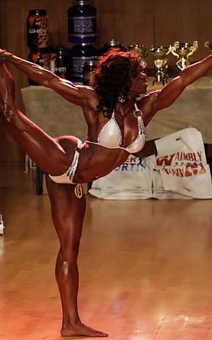 Alana Shipp, at the Ms. Israel competition (Courtesy Sky Gym)