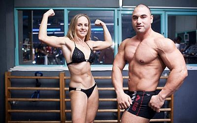 Lia and Meny Elbaz, Ms. Bikini and Mr. Israel (Courtesy Sky Gym)