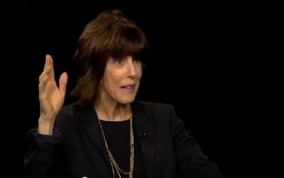 Nora Ephron in a televised interview in 2010 (photo credit: YouTube screen capture)
