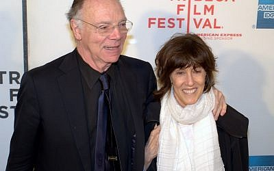 Nora Ephron and her third husband, Nicholas Pileggi, at the 2010 Tribeca Film Festival. (photo credit: cc David Shankbone, Wikimedia Commons)