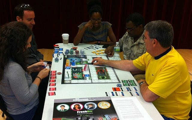 A group in New York City participates in a FreshBiz game workshop (Photo credit: Courtesy)