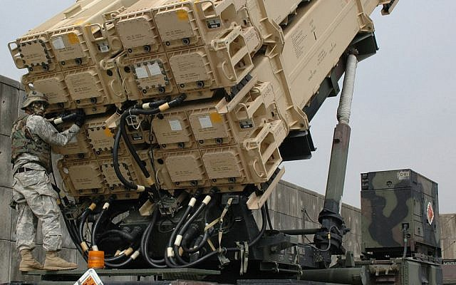 A US Army Patriot Missile launcher (photo credit: US Army/Wikipedia)