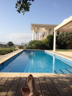 The pool at Casa Caesarea (photo credit: Jessica Steinberg)