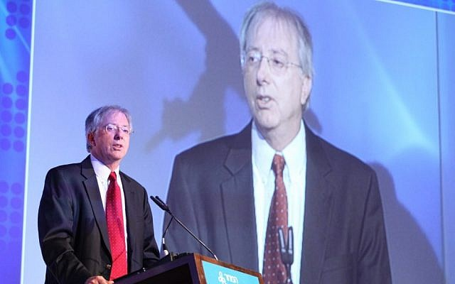 Dennis Ross at the 2012 Presidential Conference (photo credit: Chen Galili/ShiloPro)