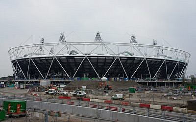 The Olympic Stadium in London. NBC sportscaster Bob Castas will memorialize the athletes murdered in Munich in 1972 when the Israeli team enters the stadium during the opening ceremony on July 27th. (photo credit: CC BY, James Mitchell,Flickr)