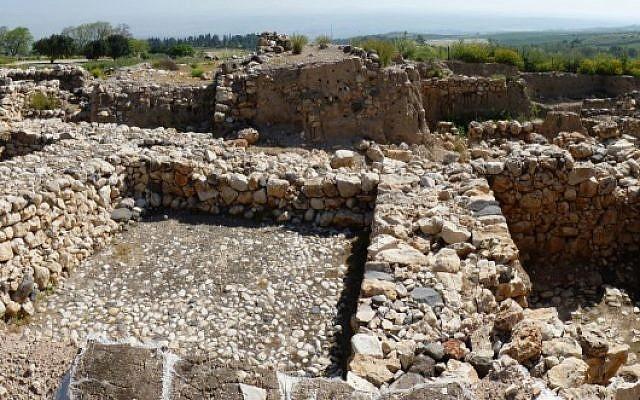 Ancient city at Tel Hazor (photo credit: CC BY ritculio, Flickr)