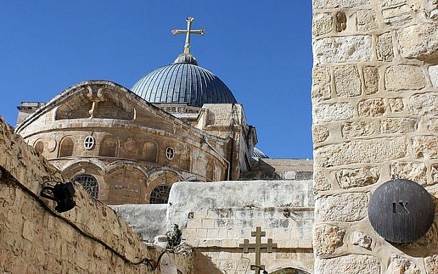 Church of the Holy Sepulchre (photo credit: CC-BY-SA Anton Croos, Wikimedia Commons)