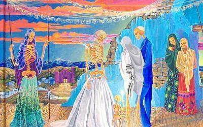 A crypto-Jewish secret wedding by Anita Rodriguez. (photo credit: Anita Rodriguez/JTA)