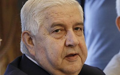 Syrian Foreign Minister Walid Moallem (AP/Dimitri Messinis)