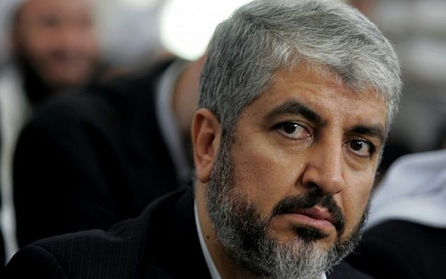 Khaled Mashaal in 2009 (photo credit: AP/Nader Daoud)