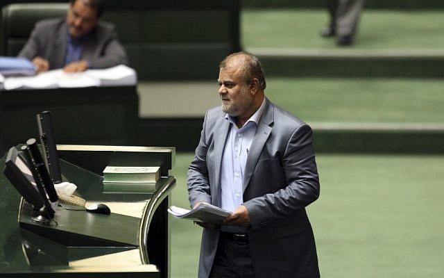 Iranian Oil Minister Rostam Ghasemi (photo credit: AP/Vahid Salemi)
