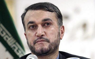 Iran's deputy foreign minister Hossein Amir-Abdollahian (photo credit: AP/File)