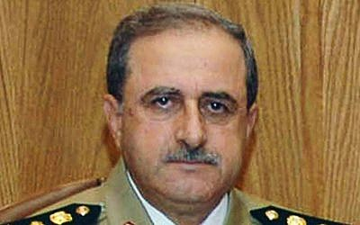 Syrian Defense Minister Gen. Dawoud Rajha (photo credit: AP/SANA)