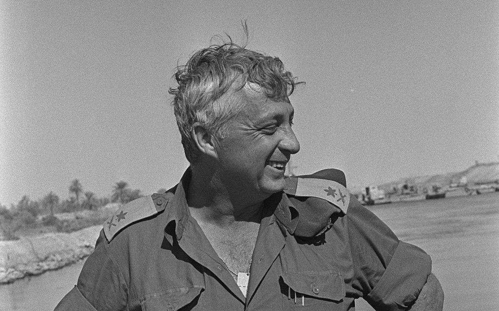 Ariel Sharon stands near the Suez Canal during the Yom Kippur war. (photo credit: GPO/ Flash 90)