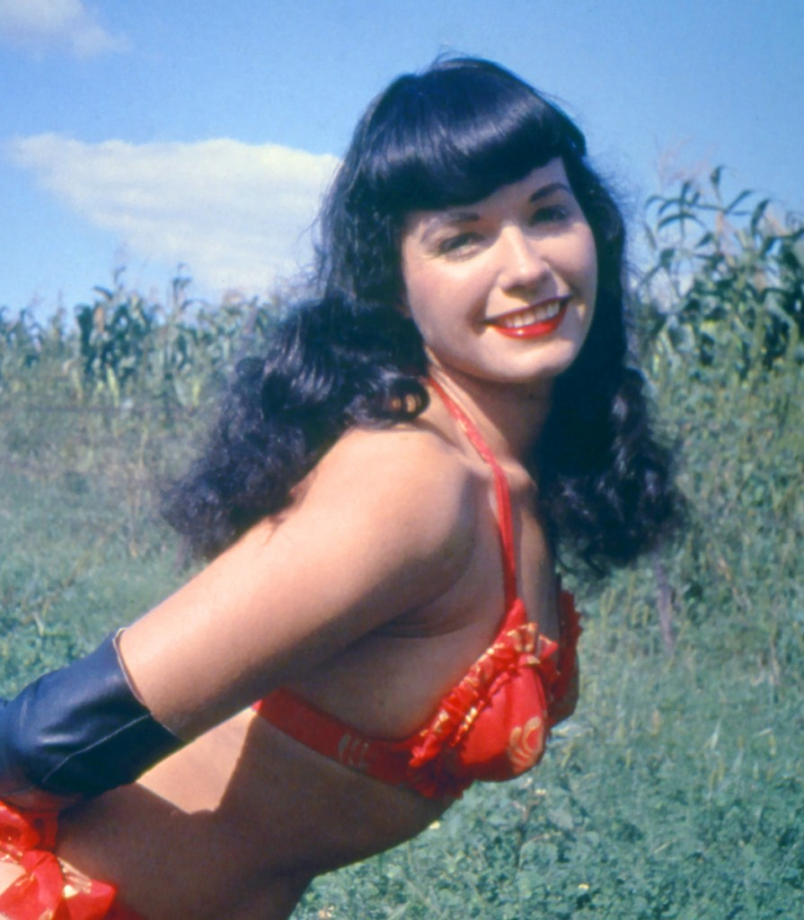 Bettie Page, the queen of the pin-up girls. (photo credit: CC-SA/released by CMG Worldwide for its free use/via wikipedia)