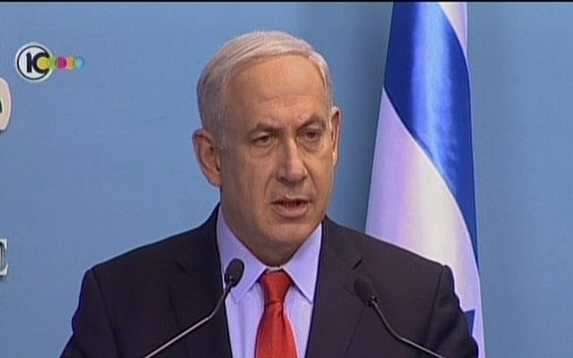Prime Minister Benjamin Netanyahu, speaking on July 19, blames Iran and Hezbollah for the Bulgaria terror attack (image capture Channel 10 news)