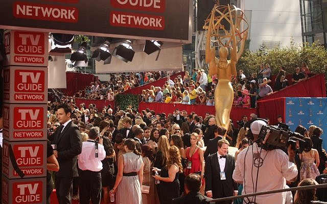 Crowds gather outside of the 2010 Emmy Awards in downtown Los Angeles (photo credit: CC-BY, CaseyPenk, Wikimedia Commons)