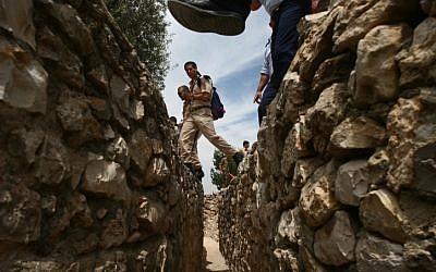 Israeli soldiers tour Ammunition Hill in Jerusalem (photo credit:Orel Cohen/Flash90)