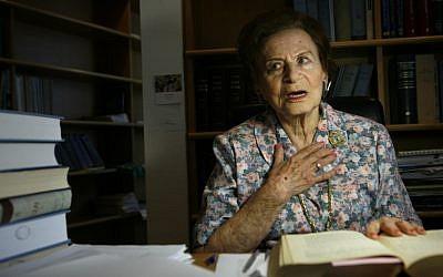Miriam Ben-Porat in 2008. (photo credit: Michal Fattal/Flash90)