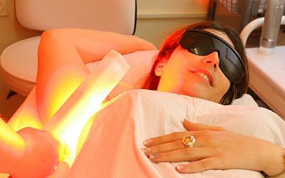 Illustrative photo of laser hair removal. (photo credit: Chen Leopold/Flash 90)