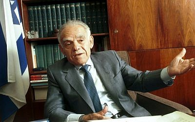 Yitzhak Shamir, pictured in 1992. (photo credit: Flash90)