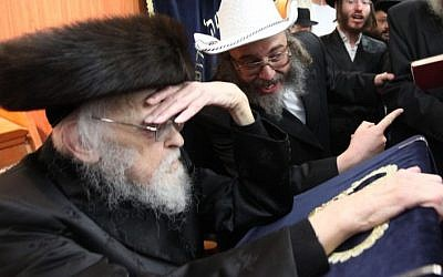 Rabbi Yosef Shalom Elyashiv (photo credit: Nati Shohat/Flash90)