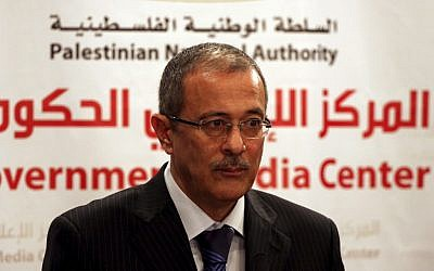 West Bank government spokesman Ghassan Khatib (photo credit: Issam Rimawi/Flash 90)
