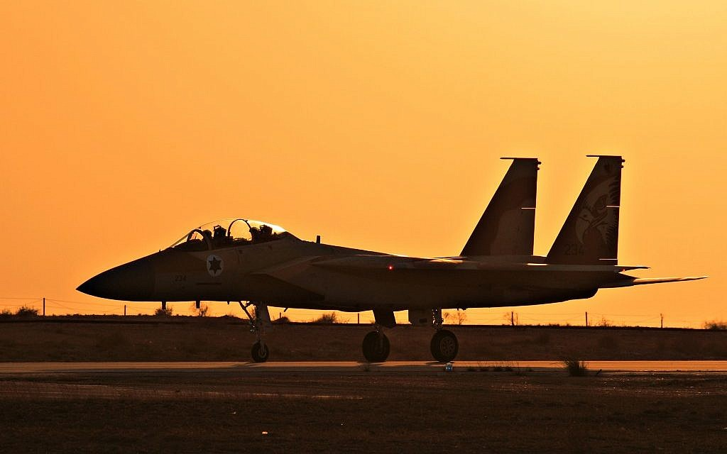 An Israeli F-15I at the Hatzerim Airbase (photo credit: Ofer Zidon/Flash90)