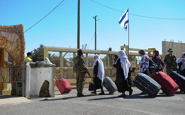 Druze cross the border between Israel and Syria (photo credit: Flash90)
