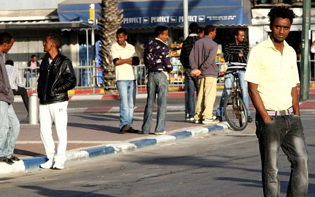 African migrants in Tel Aviv (photo credit: Nicky Kelvin/Flash90)