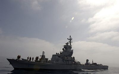 An IDF navy missile ship (photo credit: Abir Sultan/Flash90)