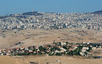 A panoramic view of the Etzion Bloc region of the West Bank (photo credit: Moshe Shai/Flash90)