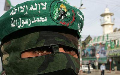 Hamas man. (photo credit: Abed Rahim Khatib/Flash90)