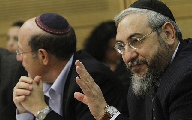 Former Shas MK Haim Amsalem in the Knesset, December 2011 (photo credit: Miriam Alster/Flash90)