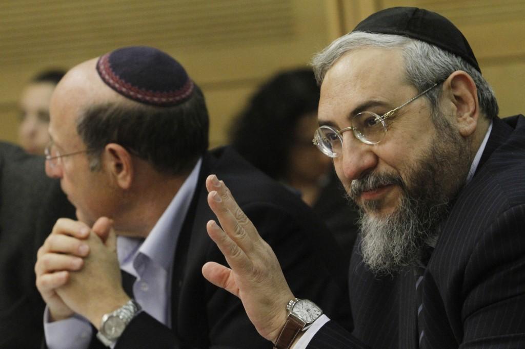 MK Haim Amsalem in the Knesset, December 2011 (photo credit: Miriam Alster/Flash90)