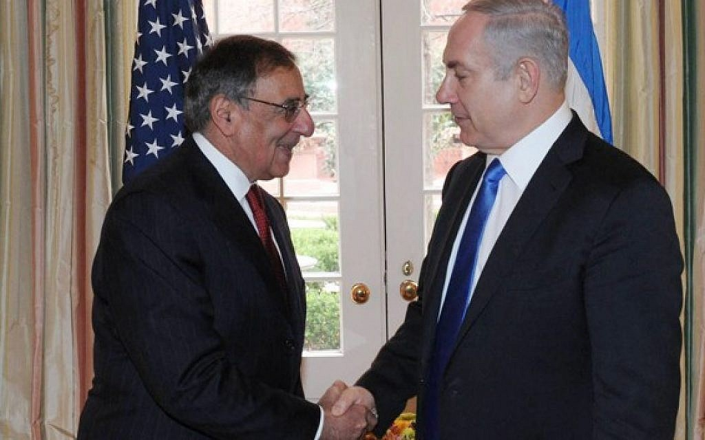Prime Minister Benjamin Netanyahu meets with US Secretary of Defense Leon Panetta in Washington DC, in March (Photo credit: Amos Ben Gershom/GPO/FLASH90)
