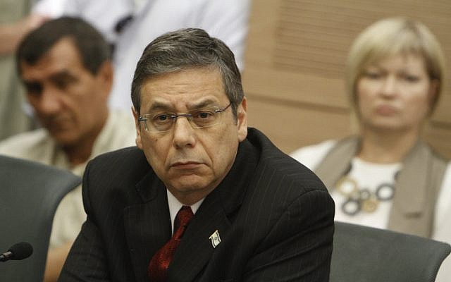Deputy Foreign Minister Danny Ayalon attends a May party meeting at the Knesset (photo credit: Miriam Alster/Flash90)