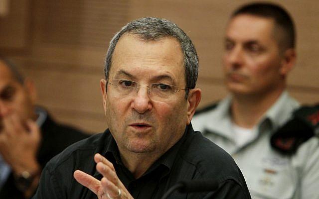 Ehud Barak speaking Monday. (photo credit: Miriam Alster/Flash90)