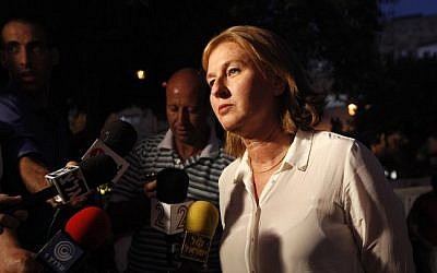 Former Kadima head Tzipi Livni speaking to students in Jerusalem in July. (photo credit: Miriam Alster/Flash90)