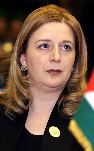 Suha Arafat (photo credit: AP/Amr Nabil)