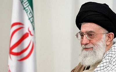 Iranian supreme leader Ayatollah Ali Khamenei (photo credit: CC-BY-SA DragonFire1024/Wikipedia)