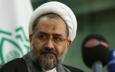 Iranian intelligence chief Heidar Moslehi (photo credit: Vahid Salemi/AP)