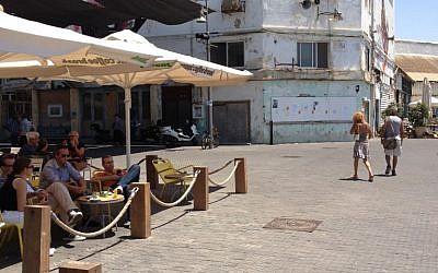 The recently refurbished Jaffa port (photo credit: Jessica Steinberg)