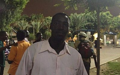 Adam, from Darfur, at the Levinsky Park Thursday (photo credit: Michal Shmulovich)