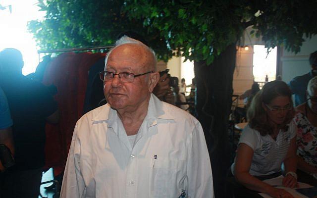 Zvi Warshaviak (photo credit: Aaron Kalman/Times of Israel)
