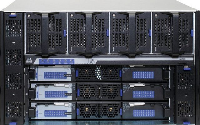 Mellanox's 108-port 20 and 40Gb/s InfiniBand Chassis Switch (Photo credit: Courtesy Mellanox)
