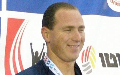 Jason Lezak at the Maccabiah Games in 2009 (photo credit: CC-BY-SA/Baswim/Wikipedia Commons)