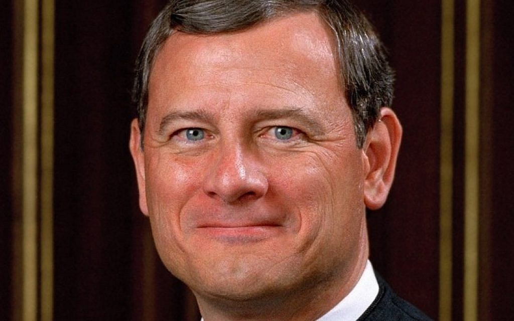 Chief Justice John Roberts. (United States Supreme Court/JTA)
