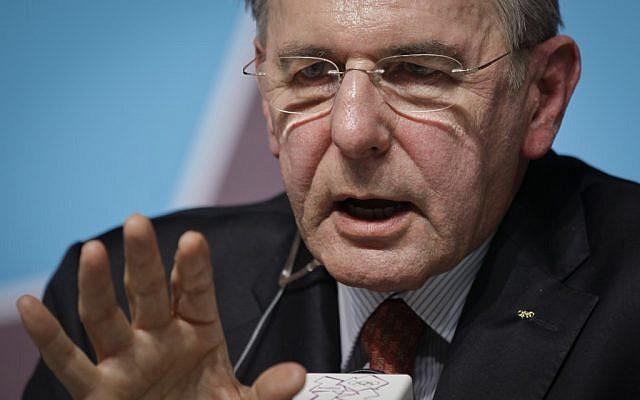 Jacques Rogge (photo credit: AP/Ben Curtis)